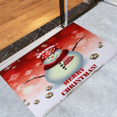 Snowman Merry Christmas Pattern Water Absorption Area Rug