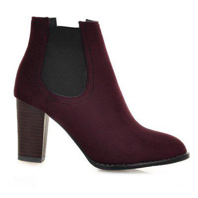 Buy WINE RED 42 Elasticized Side Panels Pointed Toe Boots for $40.46 in GearBest store