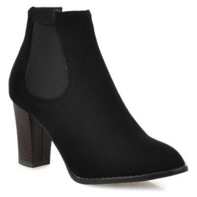 Buy BLACK 41 Elasticized Side Panels Pointed Toe Boots for $40.46 in GearBest store