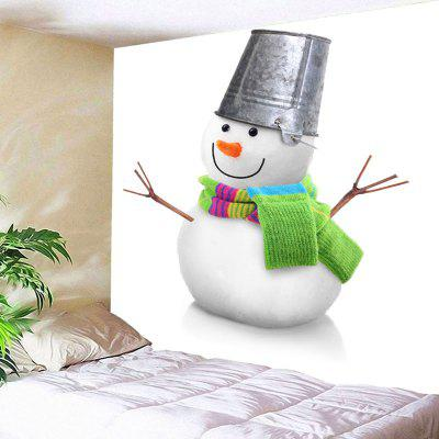Buy WHITE Wall Decor Christmas Snowman Bedroom Tapestry for $15.57 in GearBest store