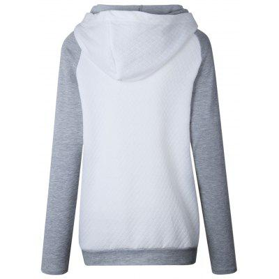Raglan Sleeve Zippered Embellished Mock Neck HoodieSweatshirts &amp; Hoodies<br>Raglan Sleeve Zippered Embellished Mock Neck Hoodie<br><br>Material: Polyester, Spandex<br>Package Contents: 1 x Hoodie<br>Pattern Style: Others<br>Season: Fall, Spring<br>Shirt Length: Regular<br>Sleeve Length: Full<br>Style: Casual<br>Weight: 0.4000kg