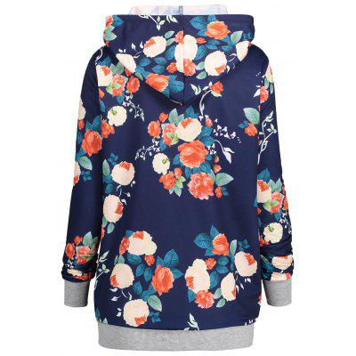 Floral Print Plus Size Kangaroo Pocket HoodiePlus Size Tops<br>Floral Print Plus Size Kangaroo Pocket Hoodie<br><br>Material: Polyester, Spandex<br>Package Contents: 1 x Hoodie<br>Pattern Style: Floral<br>Season: Fall, Spring<br>Shirt Length: Regular<br>Sleeve Length: Full<br>Style: Fashion<br>Weight: 0.4200kg