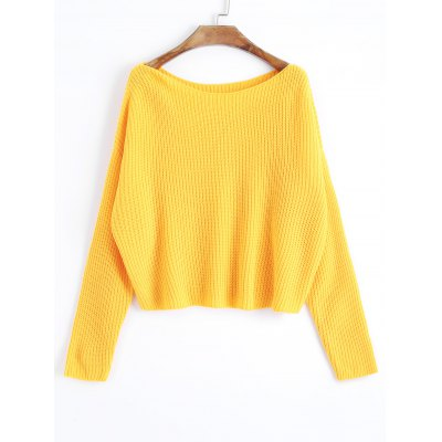 One Shoulder Oversized Pullover Sweater