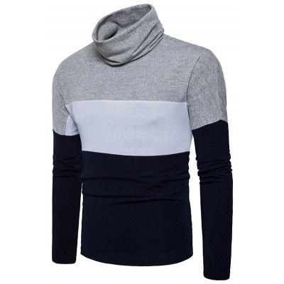 Turtle Neck Slim Fit Color Block Knitted SweaterMens Sweaters &amp; Cardigans<br>Turtle Neck Slim Fit Color Block Knitted Sweater<br><br>Collar: Turtleneck<br>Material: Cotton, Polyester<br>Package Contents: 1 x Sweater<br>Sleeve Length: Full<br>Style: Fashion<br>Type: Pullovers<br>Weight: 0.3800kg