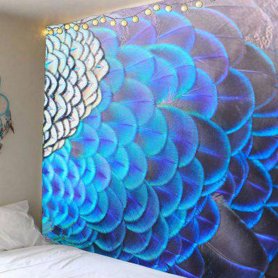 Peacock Feathers Pattern Waterproof Wall Hanging Tapestry