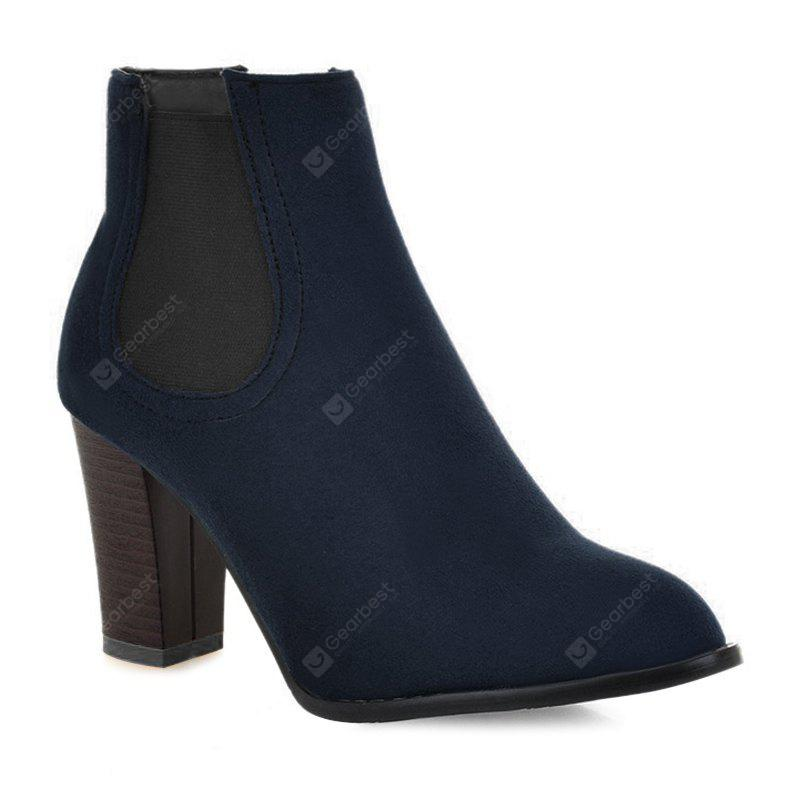 BLUE 39 Elasticized Side Panels Pointed Toe Boots
