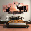 Sunset Elks Pattern Wall Art Split Canvas Paintings - COLORFUL