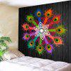 Colorful Peacock Feathers Pattern Waterproof Wall Hanging Tapestry - COLORFUL