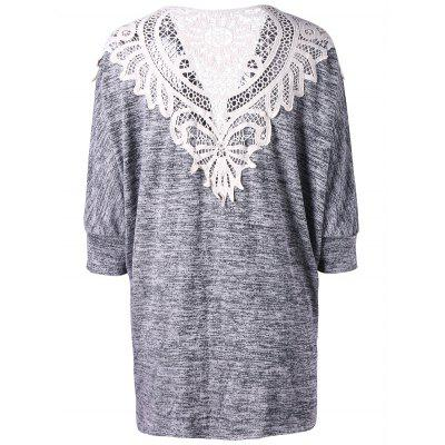 Plus Size Crochet Lace Panel CardiganPlus Size<br>Plus Size Crochet Lace Panel Cardigan<br><br>Collar: Collarless<br>Elasticity: Elastic<br>Material: Polyester, Spandex<br>Package Contents: 1 x Cardigan<br>Pattern Type: Solid<br>Season: Spring, Fall<br>Sleeve Length: Three Quarter<br>Style: Casual<br>Type: Cardigans<br>Weight: 0.3100kg