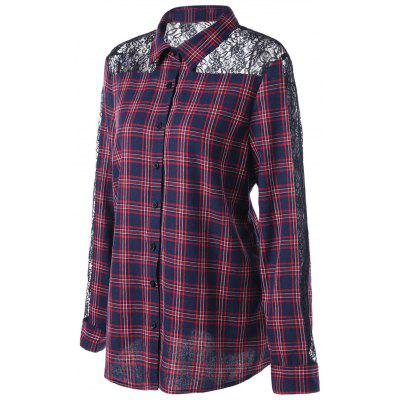 Plus Size Long Sleeve Lace Panel ShirtPlus Size Tops<br>Plus Size Long Sleeve Lace Panel Shirt<br><br>Collar: Shirt Collar<br>Elasticity: Micro-elastic<br>Embellishment: Lace,Panel<br>Material: Polyester, Spandex<br>Package Contents: 1 x Shirt<br>Pattern Type: Plaid<br>Season: Fall, Winter, Spring<br>Shirt Length: Regular<br>Sleeve Length: Full<br>Style: Fashion<br>Weight: 0.2900kg