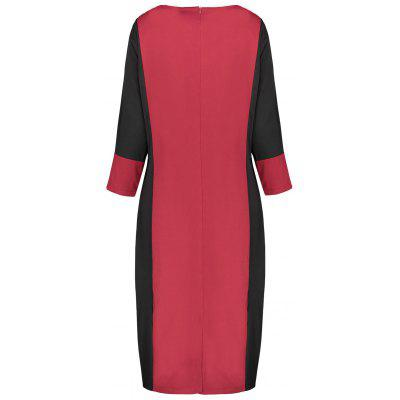 Plus Size Two Tone Work DressPlus Size Dresses<br>Plus Size Two Tone Work Dress<br><br>Dresses Length: Mid-Calf<br>Material: Polyester<br>Neckline: Round Collar<br>Package Contents: 1 x Dress<br>Pattern Type: Others<br>Season: Fall, Winter<br>Silhouette: Sheath<br>Sleeve Length: 3/4 Length Sleeves<br>Style: Work<br>Weight: 0.4400kg<br>With Belt: No