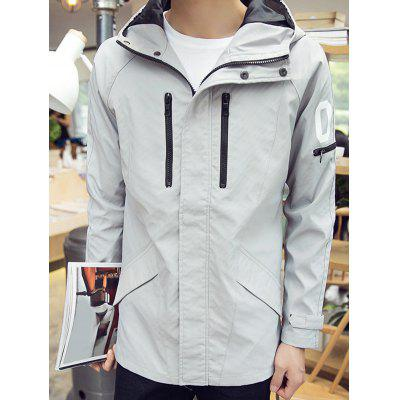 08 Print Zip Embellished Hooded Track JacketMens Jackets &amp; Coats<br>08 Print Zip Embellished Hooded Track Jacket<br><br>Closure Type: Zipper<br>Clothes Type: Jackets<br>Collar: Hooded<br>Crafts: Printing,Sewing<br>Material: Polyester<br>Occasion: Going Out, Casual<br>Package Contents: 1 x Jacket<br>Season: Winter, Fall<br>Shirt Length: Regular<br>Sleeve Length: Long Sleeves<br>Style: Casual, Active<br>Weight: 0.6200kg