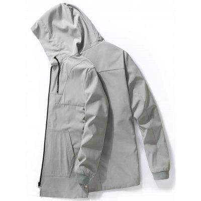 Zip Up Drawstring Hooded Track JcaketMens Jackets &amp; Coats<br>Zip Up Drawstring Hooded Track Jcaket<br><br>Closure Type: Zipper<br>Clothes Type: Jackets<br>Collar: Hooded<br>Crafts: Sewing<br>Material: Polyester, Spandex<br>Occasion: Sports, Going Out, Casual<br>Package Contents: 1 x Jacket<br>Season: Winter, Fall<br>Shirt Length: Regular<br>Sleeve Length: Long Sleeves<br>Style: Casual, Active<br>Weight: 0.6000kg