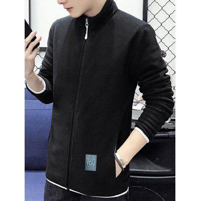 Contrast Trim Zip Up Fleece JacketMens Jackets &amp; Coats<br>Contrast Trim Zip Up Fleece Jacket<br><br>Closure Type: Zipper<br>Clothes Type: Jackets<br>Collar: Stand Collar<br>Crafts: Sewing<br>Material: Polyester<br>Occasion: Going Out, Casual<br>Package Contents: 1 x Jacket<br>Season: Fall, Winter<br>Shirt Length: Regular<br>Sleeve Length: Long Sleeves<br>Style: Casual<br>Weight: 0.4900kg