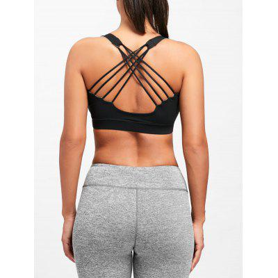 Strappy Criss Cross Yoga Bra