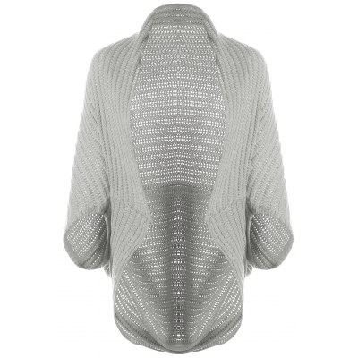 Gray Cape Open Front Loose Cardigan ONE SIZE-$22.54 Online ...