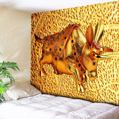 Wall Hanging Golden Cow Print Tapestry
