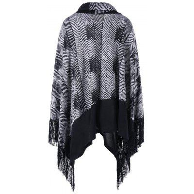 Plus Size Cowl Neck Fringe Poncho TopPlus Size Tops<br>Plus Size Cowl Neck Fringe Poncho Top<br><br>Collar: Cowl Neck<br>Material: Polyester, Rayon<br>Package Contents: 1 x Top<br>Pattern Type: Others<br>Season: Fall, Spring<br>Shirt Length: Long<br>Sleeve Length: Full<br>Style: Fashion<br>Weight: 0.5000kg