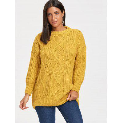 Puff Sleeve Open Front Cable Knit SweaterSweaters &amp; Cardigans<br>Puff Sleeve Open Front Cable Knit Sweater<br><br>Collar: Collarless<br>Material: Polyester<br>Package Contents: 1 x Sweater<br>Pattern Type: Solid<br>Season: Fall, Spring<br>Sleeve Length: Full<br>Style: Fashion<br>Type: Pullovers<br>Weight: 0.5500kg