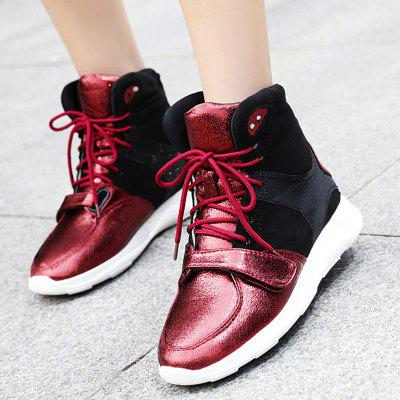 Color Block Short BootsWomens Boots<br>Color Block Short Boots<br><br>Boot Height: Ankle<br>Boot Type: Fashion Boots<br>Closure Type: Lace-Up<br>Gender: For Women<br>Heel Height: 3CM<br>Heel Height Range: Low(0.75-1.5)<br>Heel Type: Low Heel<br>Package Contents: 1 x Boots (pair)<br>Pattern Type: Others<br>Season: Spring/Fall, Winter<br>Shoe Width: Medium(B/M)<br>Toe Shape: Round Toe<br>Upper Material: PU,Suede<br>Weight: 1.1200kg