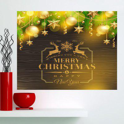 Buy GOLDEN Golden Baubles Pattern Multifunction Wall Sticker for $11.43 in GearBest store