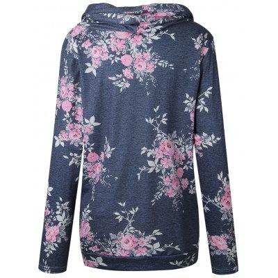 Floral Cowl Neck HoodieSweatshirts &amp; Hoodies<br>Floral Cowl Neck Hoodie<br><br>Material: Polyester, Spandex<br>Package Contents: 1 x Hoodie<br>Pattern Style: Floral<br>Season: Fall, Spring<br>Shirt Length: Regular<br>Sleeve Length: Full<br>Style: Fashion<br>Weight: 0.3200kg