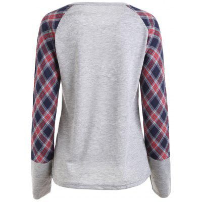 Plaid Raglan Sleeve Pocket TopBlouses<br>Plaid Raglan Sleeve Pocket Top<br><br>Collar: Round Neck<br>Material: Polyester, Spandex<br>Package Contents: 1 x Top<br>Pattern Type: Plaid<br>Season: Fall, Spring<br>Shirt Length: Regular<br>Sleeve Length: Full<br>Style: Fashion<br>Weight: 0.3000kg