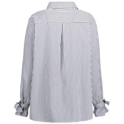 Plus Size Bowknot Vertical Stripe ShirtPlus Size Tops<br>Plus Size Bowknot Vertical Stripe Shirt<br><br>Collar: Shirt Collar<br>Embellishment: Bowknot,Embroidery<br>Material: Polyester<br>Package Contents: 1 x Shirt<br>Pattern Type: Striped<br>Season: Winter, Fall<br>Shirt Length: Long<br>Sleeve Length: Full<br>Style: Fashion<br>Weight: 0.2600kg