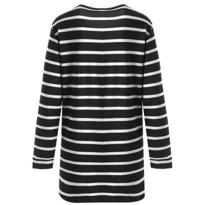 Plus Size Striped V Neck Longline T-shirtPlus Size Tops<br>Plus Size Striped V Neck Longline T-shirt<br><br>Collar: V-Neck<br>Material: Cotton, Polyester<br>Package Contents: 1 x T-shirt<br>Pattern Type: Striped<br>Season: Fall, Spring<br>Shirt Length: Long<br>Sleeve Length: Full<br>Style: Casual<br>Weight: 0.3900kg