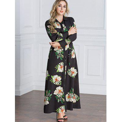 Floral Button Up Maxi Shirt DressMaxi Dresses<br>Floral Button Up Maxi Shirt Dress<br><br>Dress Type: Shirt Dress<br>Dresses Length: Floor-Length<br>Material: Polyester, Spandex<br>Neckline: Shirt Collar<br>Occasion: Casual<br>Package Contents: 1 x Dress  1 x Belt<br>Pattern Type: Floral<br>Season: Fall<br>Sleeve Length: Long Sleeves<br>Weight: 0.4300kg<br>With Belt: Yes