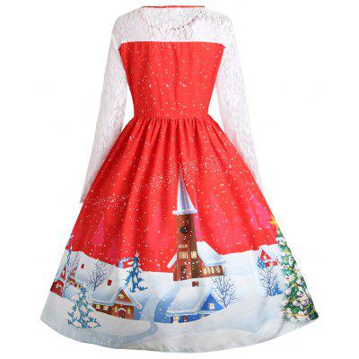 Plus Size Christmas Santa Claus Lace Sleeve Gown DressPlus Size Dresses<br>Plus Size Christmas Santa Claus Lace Sleeve Gown Dress<br><br>Dresses Length: Mid-Calf<br>Embellishment: Hollow Out,Lace<br>Material: Polyester<br>Neckline: Round Collar<br>Package Contents: 1 x Dress<br>Pattern Type: Animal, Print<br>Season: Winter, Fall<br>Silhouette: Ball Gown<br>Sleeve Length: Long Sleeves<br>Style: Cute<br>Waist: High Waisted<br>Weight: 0.5100kg<br>With Belt: No