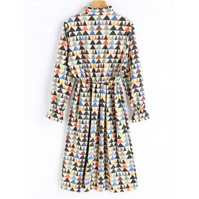Geometrical Print Midi Corduroy DressLong Sleeve Dresses<br>Geometrical Print Midi Corduroy Dress<br><br>Dresses Length: Mid-Calf<br>Material: Polyester<br>Neckline: Ruffled<br>Occasion: Casual<br>Package Contents: 1 x Dress<br>Pattern Type: Geometric<br>Season: Fall<br>Silhouette: A-Line<br>Sleeve Length: Long Sleeves<br>Style: Brief<br>Weight: 0.4800kg<br>With Belt: No