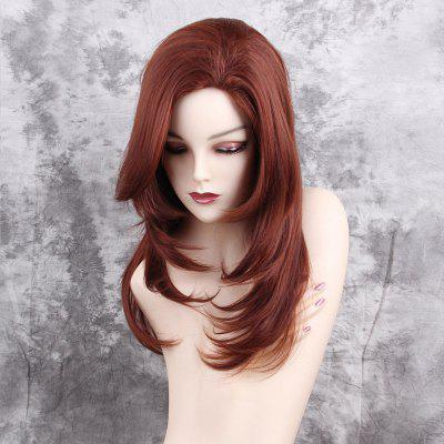 Long Side Bang Layered Tail Adduction Straight Synthetic Wig
