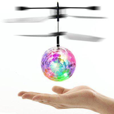 Colorful Flash LED Disco Ball Induction Helicopter Toy