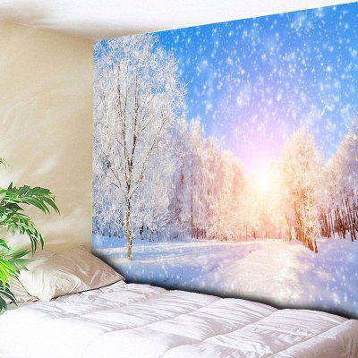 Wall Hanging Snowscape Pattern Bedroom Tapestry