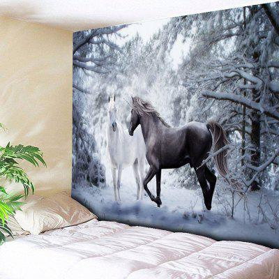 Two Horses Print Wall Hanging Tapestry