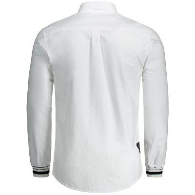 Letter Embroidery Button Fly ShirtMens Shirts<br>Letter Embroidery Button Fly Shirt<br><br>Collar: Turn-down Collar<br>Material: Cotton<br>Package Contents: 1 x Shirt<br>Shirts Type: Casual Shirts<br>Sleeve Length: Full<br>Weight: 0.4200kg