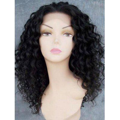 Long Free Part Shaggy Afro Kinky Curly Lace Front Synthetic Wig