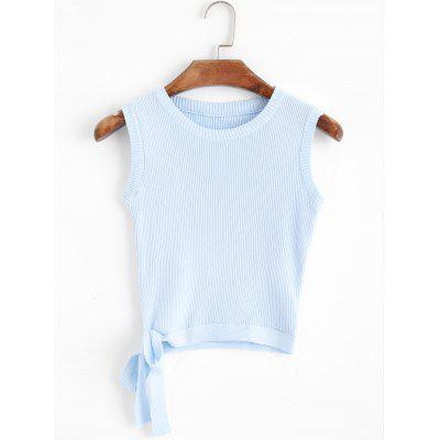 Bowknot Cropped Knitted Tank Top