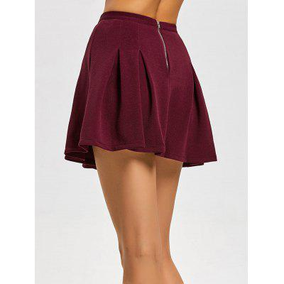 High Waisted Pleated Mini Flare SkirtSkirts<br>High Waisted Pleated Mini Flare Skirt<br><br>Length: Mini<br>Material: Polyester<br>Package Contents: 1 x Skirt<br>Pattern Type: Solid<br>Silhouette: Pleated<br>Weight: 0.4300kg