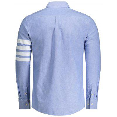 Stripe Splicing Long Sleeves ShirtMens Shirts<br>Stripe Splicing Long Sleeves Shirt<br><br>Collar: Turn-down Collar<br>Material: Cotton<br>Package Contents: 1 x Shirt<br>Shirts Type: Casual Shirts<br>Sleeve Length: Full<br>Weight: 0.4300kg