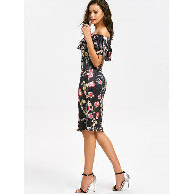 Off Shoulder Tiered Flounce Floral Sheath DressWomens Dresses<br>Off Shoulder Tiered Flounce Floral Sheath Dress<br><br>Dresses Length: Knee-Length<br>Material: Polyester<br>Neckline: Off The Shoulder<br>Occasion: Going Out<br>Package Contents: 1 x Dress<br>Pattern Type: Floral<br>Season: Fall<br>Silhouette: Sheath<br>Sleeve Length: Short Sleeves<br>Style: Brief<br>Weight: 0.3100kg<br>With Belt: No