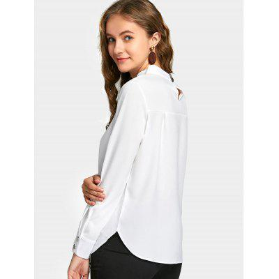 Long Sleeve Button Neck BlouseBlouses<br>Long Sleeve Button Neck Blouse<br><br>Collar: Stand-Up Collar<br>Material: Polyester<br>Occasion: Casual<br>Package Contents: 1 x Blouse<br>Pattern Type: Solid<br>Shirt Length: Regular<br>Sleeve Length: Full<br>Style: Fashion<br>Weight: 0.2800kg