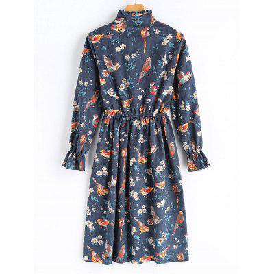 Birds Print Corduroy Long Sleeve DressLong Sleeve Dresses<br>Birds Print Corduroy Long Sleeve Dress<br><br>Dresses Length: Mid-Calf<br>Material: Polyester<br>Neckline: Ruffled<br>Occasion: Casual<br>Package Contents: 1 x Dress<br>Pattern Type: Animal<br>Season: Fall<br>Silhouette: A-Line<br>Sleeve Length: Long Sleeves<br>Style: Cute<br>Weight: 0.4800kg<br>With Belt: No