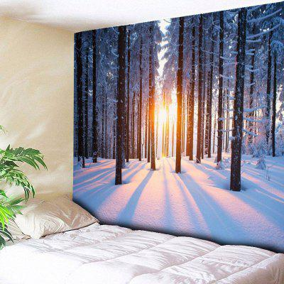 Bedroom Decor Snowscape Printed Wall Tapestry