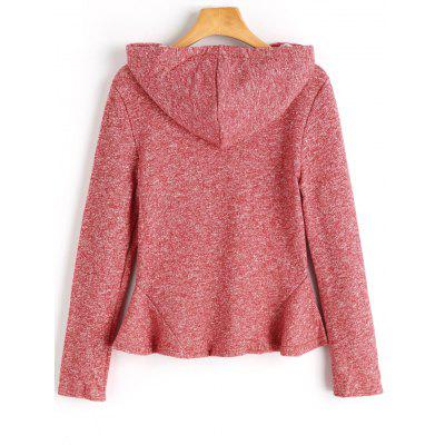 Heathered Peplum HoodieSweatshirts &amp; Hoodies<br>Heathered Peplum Hoodie<br><br>Clothing Style: Hoodie<br>Material: Polyester<br>Package Contents: 1 x Hoodie<br>Pattern Style: Others<br>Shirt Length: Regular<br>Sleeve Length: Full<br>Weight: 0.4400kg