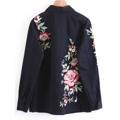 Floral Embroidered Denim Button Up JacketJackets &amp; Coats<br>Floral Embroidered Denim Button Up Jacket<br><br>Clothes Type: Jackets<br>Collar: Shirt Collar<br>Embellishment: Embroidery<br>Material: Cotton, Jeans, Polyester<br>Package Contents: 1 x Jacket<br>Pattern Type: Floral<br>Shirt Length: Regular<br>Sleeve Length: Full<br>Style: Fashion<br>Type: Slim<br>Weight: 0.5900kg