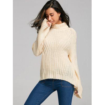Drop Shoulder Turtleneck Sweater with StripySweaters &amp; Cardigans<br>Drop Shoulder Turtleneck Sweater with Stripy<br><br>Collar: Turtleneck<br>Elasticity: Elastic<br>Material: Acrylic, Spandex<br>Package Contents: 1 x Sweater<br>Pattern Type: Striped<br>Season: Fall, Spring, Winter<br>Sleeve Length: Full<br>Style: Fashion<br>Type: Pullovers<br>Weight: 0.4700kg