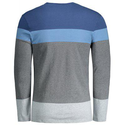 Mens Color Block T-shirtMens Long Sleeves Tees<br>Mens Color Block T-shirt<br><br>Collar: Round Neck<br>Material: Cotton Blends<br>Package Contents: 1 x T-shirt<br>Pattern Type: Others<br>Sleeve Length: Full<br>Style: Casual<br>Weight: 0.3350kg