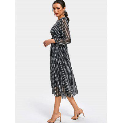 Long Sleeve Polka Dot Chiffon DressWomens Dresses<br>Long Sleeve Polka Dot Chiffon Dress<br><br>Dresses Length: Mid-Calf<br>Fabric Type: Chiffon<br>Material: Polyester<br>Neckline: Round Collar<br>Occasion: Casual , Going Out<br>Package Contents: 1 x Dress<br>Pattern Type: Polka Dot<br>Season: Fall<br>Silhouette: A-Line<br>Sleeve Length: Long Sleeves<br>Style: Casual<br>Weight: 0.3900kg<br>With Belt: No